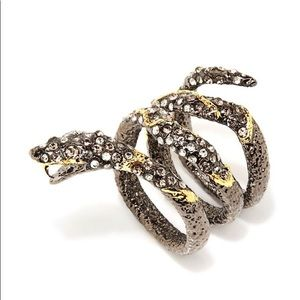 Brand new Alexis Bittar snake crystal ring